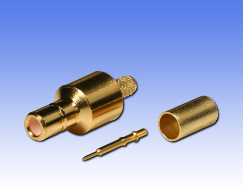 SMB-Kabelstecker für Kabel RG 174, RG 316, gold, crimp