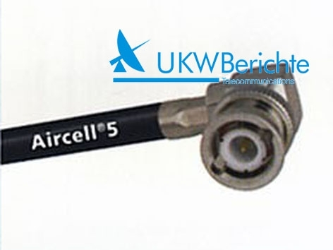 BNC-Winkelstecker für Aircell 5, crimp