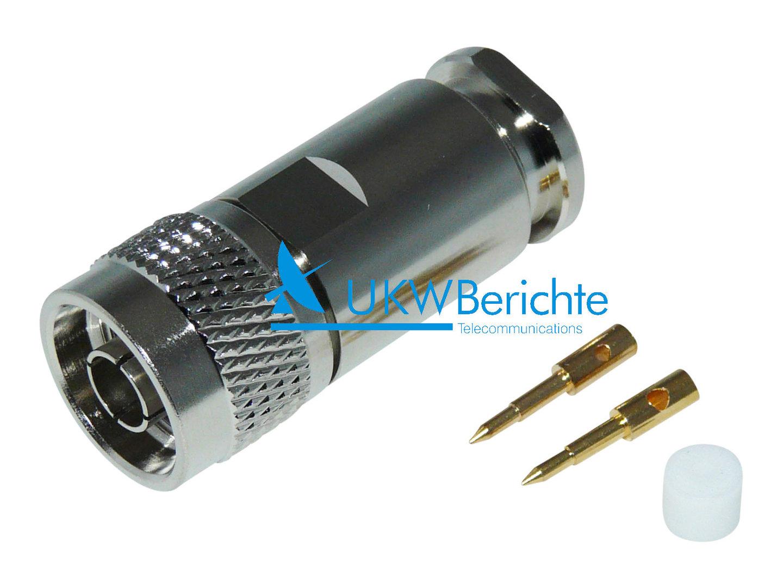 N-Stecker (N-m) für Kabel ECOFLEX-10, AIRCOMplus u. H2000, löt ...
