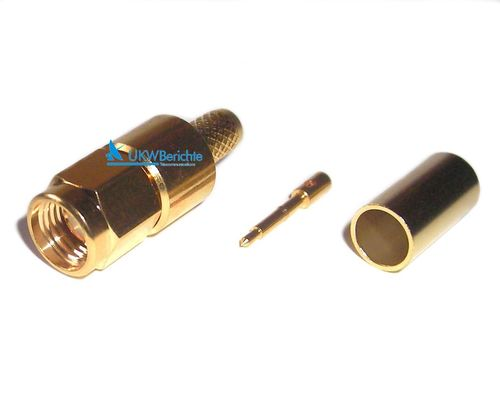 SMA-Stecker für Kabel AIRCELL-5, Gold, crimp