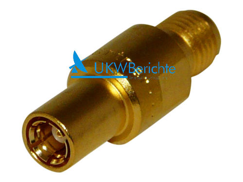 Adapter SMA-Buchse auf SMB-Buchse, gold